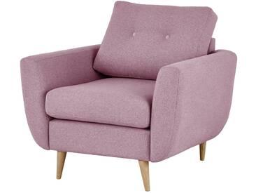 finya Retro-Sessel rosa - Stoff Harris ¦ rosa/pink ¦ Maße (cm): B: 88 H: 85 T: 85 » Höffner