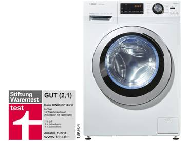 Haier Waschvollautomat  HW80-BP14636 ¦ weiß ¦ Kunststoff, Glas , Metall-lackiert ¦ Maße (cm): B: 59,5 H: 85 T: 55 » Höffner
