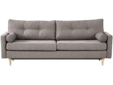 finya Design-Schlafsofa 3-sitzig grau-braun - Webstoff Pure ¦ Maße (cm): B: 218 H: 85 T: 93 » Höffner