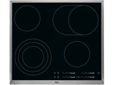 AEG Glaskeramik-Kochstelle  HK654070XB ¦ schwarz ¦ Glas  ¦ Maße (cm): B: 57,6 H: 3,8 T: 51,6 » Höffner