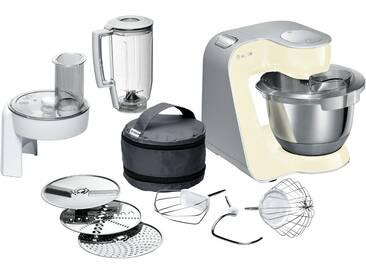 BOSCH Küchenmaschine   MUM 58920 ¦ creme ¦ Edelstahl, Kunststoff ¦ Maße (cm): B: 28 H: 28,2 T: 27,1 » Höffner
