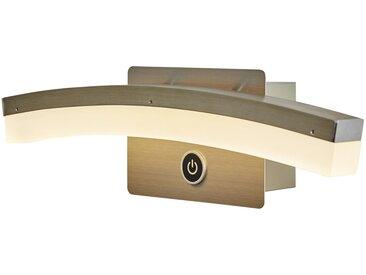 Wofi LED-Wandleuchte, gebogen mit 3-Stufen-Dimmer ¦ silber ¦ Maße