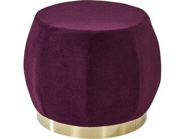 Polsterhocker  Lecce ¦ lila/violett ¦ Maße (cm): H: 37 Ø: [45.0]