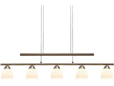 Paul Neuhaus LED- Pendelleuchte, 5-flammig, nickel matt, höhenverstellbar ¦ silber ¦ Maße (cm): B: 75 H: 149 » Höffner