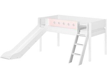 FLEXA Halbhohes Bett mit Rutsche 90x200 weiß Flexa White ¦ weiß ¦ Maße (cm): B: 250 H: 120 » Höffner