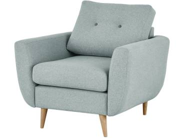 finya Retro-Sessel blau - Stoff Harris ¦ blau ¦ Maße (cm): B: 88 H: 85 T: 85 » Höffner