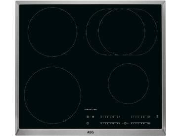 AEG Induktions-Kochstelle  IKB64411XB ¦ schwarz ¦ Edelstahl, Metall, Glas  ¦ Maße (cm): B: 57,6 H: 4,6 T: 51,6 » Höffner