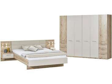 uno Komplett-Schlafzimmer, 4-teilig   Paris ¦ holzfarben ¦ Maße (cm): B: 282 H: 226 T: 60 » Höffner