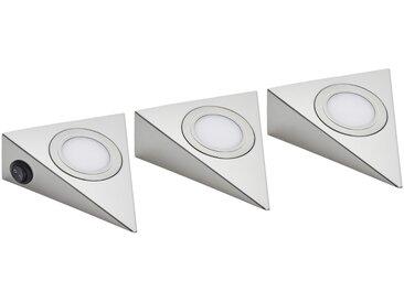 LED-Unterbauleuchten, 3er-Set  LED-Dreieckleuchte ¦ silber ¦ Maße (cm): B: 13 H: 4,8 » Höffner