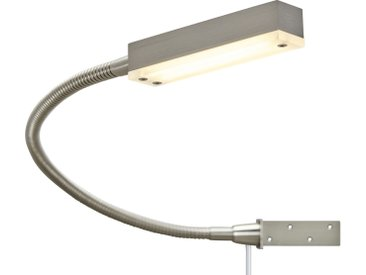 Fischer-Honsel LED-Bettleuchte, 1-flammig, Nickel matt ¦ silber