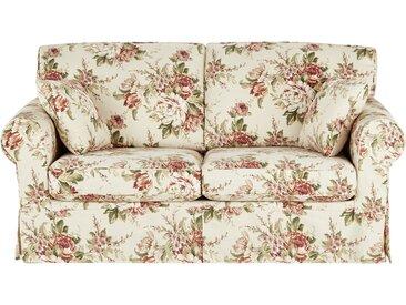 Sofa 2,5-sitzig mit Husse creme/rosa - Webstoff Chaneel ¦