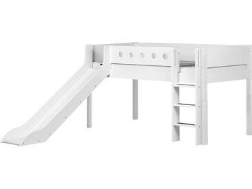 FLEXA Halbhohes Bett mit Rutsche 90x200 weiß Flexa White ¦ weiß ¦ Maße (cm): B: 210 H: 250 T: 120 » Höffner