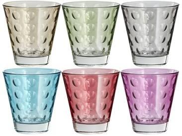 LEONARDO Gläser klein, 6er-Set  Optic ¦ mehrfarbig ¦ Glas ¦ Maße (cm): B: 26 H: 9,8 T: 17,4 » Höffner