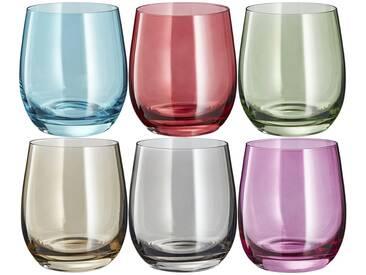 LEONARDO Gläser klein, 6er-Set  Sora ¦ mehrfarbig ¦ Glas ¦ Maße (cm): B: 26,7 H: 10,3 T: 17,8 » Höffner