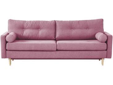 finya Design-Schlafsofa 3-sitzig rosa - Webstoff Pure ¦ rosa/pink ¦ Maße (cm): B: 218 H: 85 T: 93 » Höffner