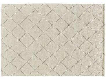Berber-Teppich  Marrakesh Design simple ¦ weiß ¦ reine Wolle,