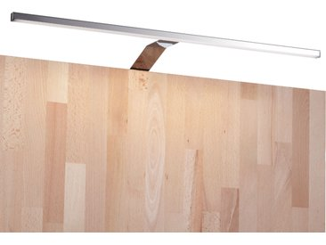 kalb | LED Kleiderschrankleuchte Aufbauleuchte Schrankbeleuchtung 1-4er SET chrom / silbergrau 600mm