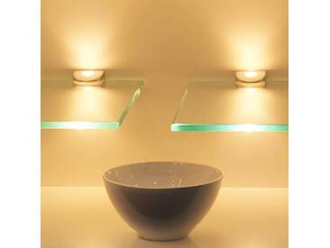 LED Glasregal Wandpaneel Hängeregal Wandboard Wandregal Regal beleuchtet