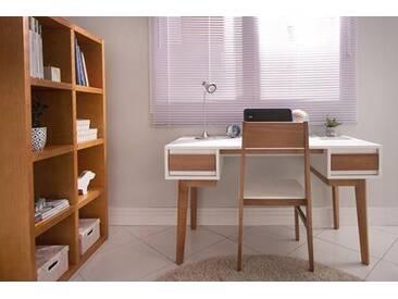 Schreibtisch Miolo - Weiss und Oak