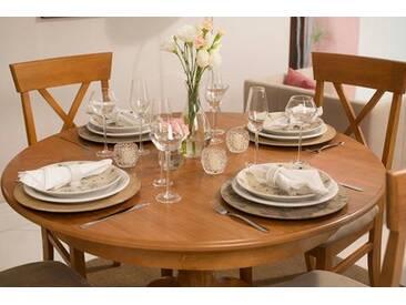 Ausziehbare Rundtisch Esstisch Tea - Oak oder Weiß