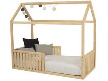 Hausbett MI CASA - Montessori Kinderbett mit Rausfallschutz und