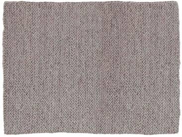 Bidhya:  Fair-Trade-Teppich, naturliche graue Wolle, in Nepal hergestellt