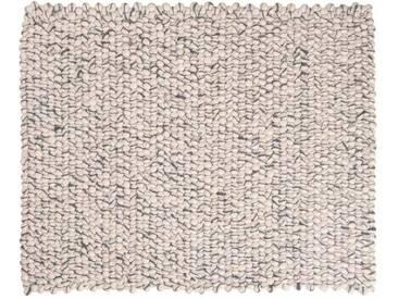 Sunita - rechteckig: 250cm x 300cm Elfenbein Grau Rechteck handgefertigte Filzteppich weicher Wolle, Wohnzimmer