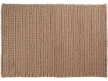 Yakub: 100cm x 140cm beige, hellbrauner Teppich, indische Filzteppiche, Preis, online kaufen