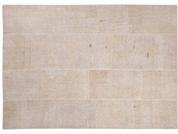 Irmak: 250cm x 300cm Patchwork Teppiche Naturfasern Weiß Beige Farbe Schönes Wohnzimmer Benutzerdefinierte Formate