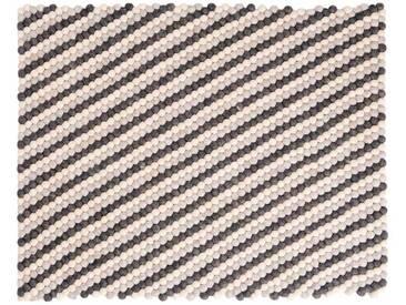Deevyah - rechteckig: 100cm x 140cm Runde natürliche Wolle Farben Gefilzt Balls Teppich aus Nepal,Online Kauf