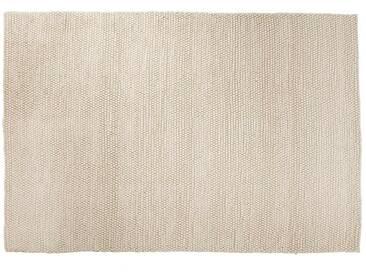 Ayush: Custom Size Schöne weiße Wollteppich  Handgefertigt in Indien Fair Trade Large und Small Size Hay Peas
