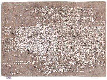 Irshad - handgetuftet:  Seide Orientteppich, Hand getuftet, naturliche Farben