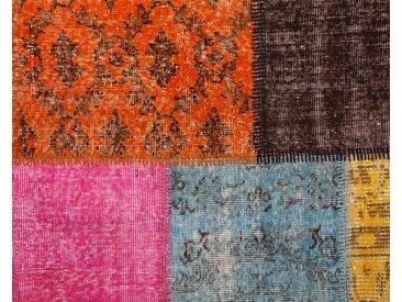 Vintage Patchworkteppich - maßgeschneidert: 150cm x 200cm Benutzerdefinierter Jahrgang Teppich, Patchwork Teppiche in eigenen Farben
