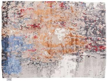 Narendra - handgetuftet:  Handgetuftete persische Wolle Teppich, orange grau