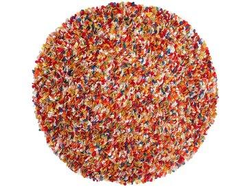 Araav - rund: 200cm 90cm bis 200cm Wollfilz Runde Teppiche Online Multi Farben aus Indien Pinocchio, Ausverkauf