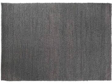 Aarush: 300cm x 400cm Woll-Loop-Teppich Dunkelgrau Farbe erhältlich in Sondergrößen Hand Made Hay Peas