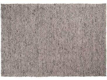 Yash: 150cm x 200cm Flachgewebeteppich, Wolle elfenbein grau, geeignet für Büro oder Esstisch