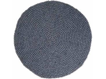 Swornima - rund: 150cm Scandinavian Design Grauer Wollteppich Rund,Lieblings der Innenarchitekten