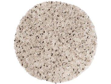 Aditya – rund: Custom Size Danish Design Filzteppich Rund in natürliche weiße Farbe Wolle,Ausverkauf
