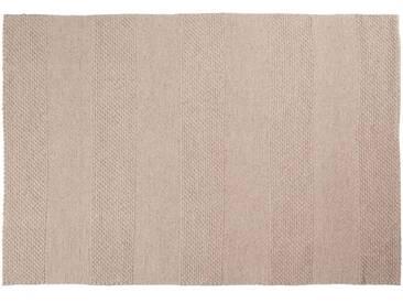 Lala: 80cm x 100cm weißer Teppich, handgemachte indische Teppiche, stark, passend für Esstisch