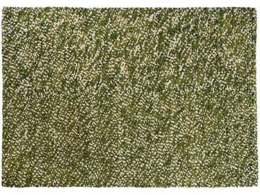 Reyansh: 300cm x 400cm Grün, Weiß, Wolle Indische Designer Teppich für Wohnzimmer, Klein / Medium / Groß / XL