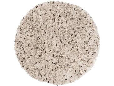 Aditya – rund: 90cm Danish Design Filzteppich Rund in natürliche weiße Farbe Wolle,Ausverkauf