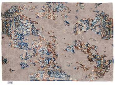 Suraj - handgetuftet:  Neutraler beige moderner orientalischer Teppich, Weinlese-Art, im Verkauf