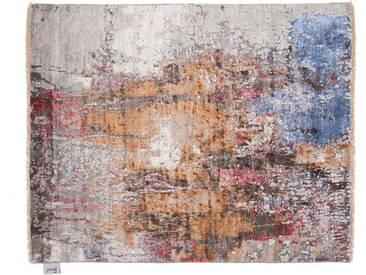Narendra - handgeknüpft:  Seide orientalischer Teppich, moderner Designer, Kunst