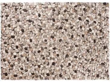 Dhruv - rechteckig: 100cm x 140cm Beige Braun Indian Pebble Filz Teppiche Rechteckige Steinen Teppich Handgefertigt