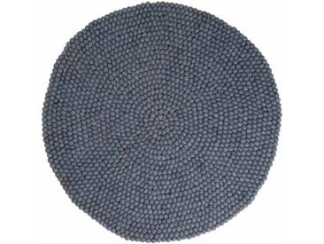 Swornima - rund: 100cm Scandinavian Design Grauer Wollteppich Rund,Lieblings der Innenarchitekten