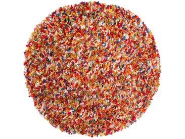 Araav - rund: 90cm 90cm bis 200cm Wollfilz Runde Teppiche Online Multi Farben aus Indien Pinocchio, Ausverkauf