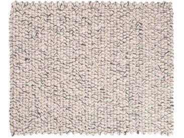Sunita - rechteckig: 15cm x 20cm Elfenbein Grau Rechteck handgefertigte Filzteppich weicher Wolle, Wohnzimmer