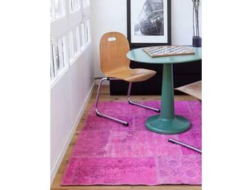 Meryem: 100cm x 140cm  Rosa Fuchsia Overdyed Vintage-handgemachte Teppiche in der Türkei Outlet-Store