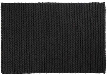 Samrul: 80cm x 100cm Kohle schwarz Teppich, indische Filzteppiche, niedriger Preis, billig, geflochten